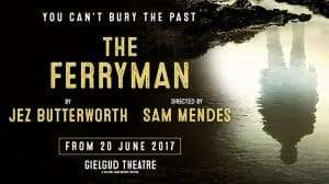 artwork The Ferryman at the Gielgud Theatre, London 2017