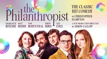 Artwork for The Philanthropist starring Charlotte Richie, Matt Berry, Tom Rosenthal, Simon Bird and Lily Cole
