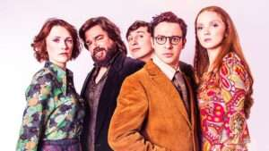 The Philanthropist starring Charlotte Richie, Matt Berry, Tom Rosenthal, Simon Bird and Lily Cole