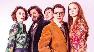 The Philanthropist starring Charlotte Richie, Matt Berry, Tom Rosenthal, Simon Bird and Lily Cole