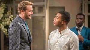 Oliver Chris & Daniel Ezra in Twelfth Night at the National Theatre, Directed by Simon Godwin. 2017
