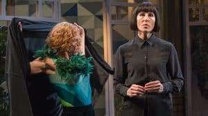 Tamsin Greig & Doon Mackichan in Twelfth Night at the National Theatre, Directed by Simon Godwin.
