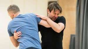 James McArdle and Russell Tovey rehearse Angels in America (c) Helen Maybanks