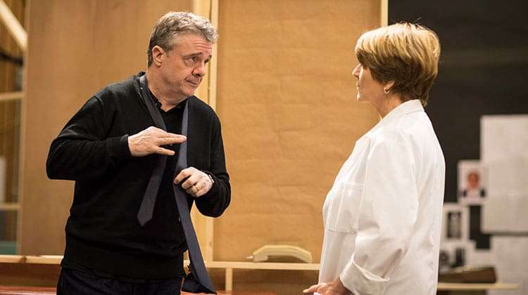 Susan Brown and Nathan Lane rehearse Angels in America (c) Helen Maybanks