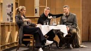 Denise Gough, Nathan Lane and Russell Tovey rehearse Angels in America (c) Helen Maybanks