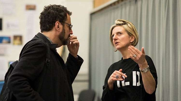 Tony Kushner and Marianne Elliott Angels in America (c) Helen Maybanks | In rehearsal: Angels in America