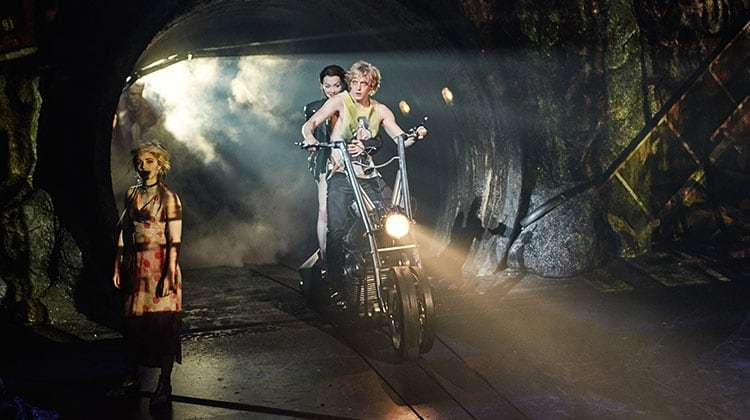 Eve Norris, Christina Bennington & Andrew Polec in Bat Out of Hell The Musical. UK production