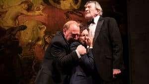 Adrian Scarborough, David Tennant, Gawn Grainger in Don Juan in Soho at Wyndham's Theatre