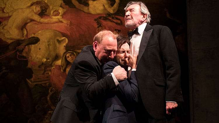 Adrian Scarborough, David Tennant, Gawn Grainger in Don Juan in Soho at Wyndham's Theatre