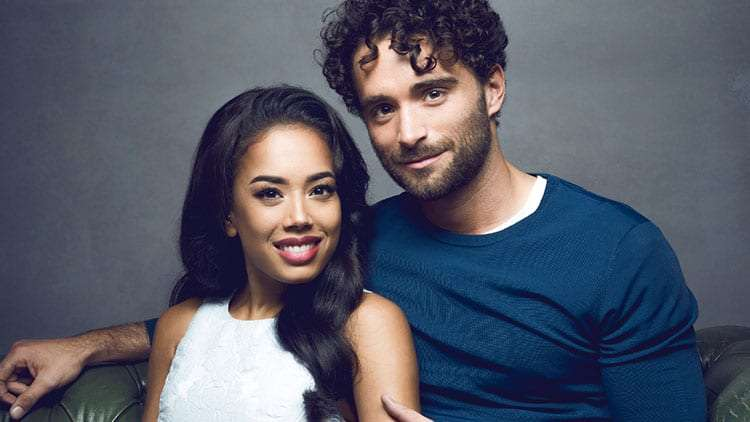 Jade Ewen & Matthew Croke in PR for Disney's Aladdin