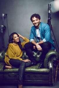 Jade Ewen & Matthew Croke in PR for Disney's Aladdin