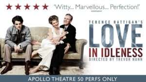 Love In Idleness Eve Best and Anthony Head Apollo Theatre