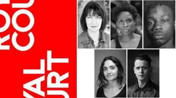 Nuclear War cast at Royal Court Theatre