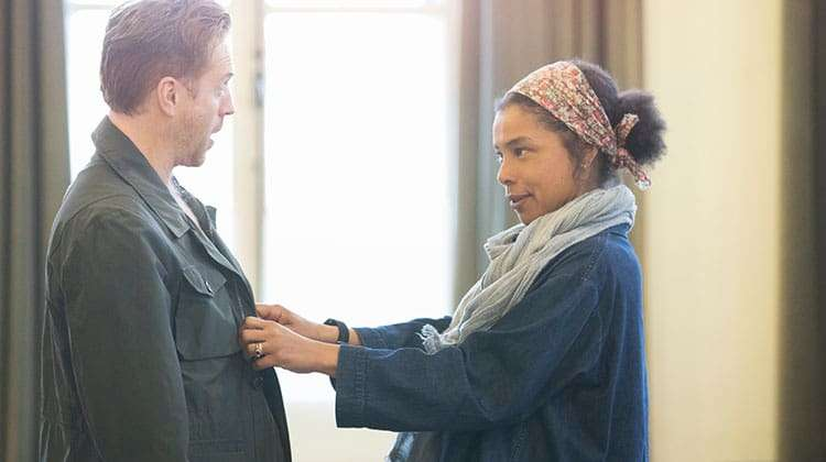 Damian Lewis and Sophie Okonedo in rehearsal for Edward Albee's The Goat, Or Who Is Sylvia?