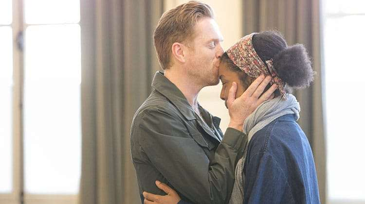 The Goat, Or Who Is Sylvia? - Damian Lewis , Sophie Okonedo.  Credit Johan Persson | In rehearsal: Damian Lewis & Sophie Okonedo in The Goat, Or Who is Sylvia?