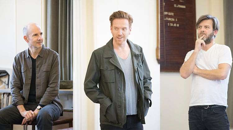 Ian Rickson , Damian Lewis and Jason Hughes in rehearsal for Edward Albee's The Goat, Or Who Is Sylvia?