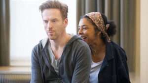 Sophie Okonedo and Damian Lewis in rehearsal for Edward Albee's The Goat, Or Who Is Sylvia?