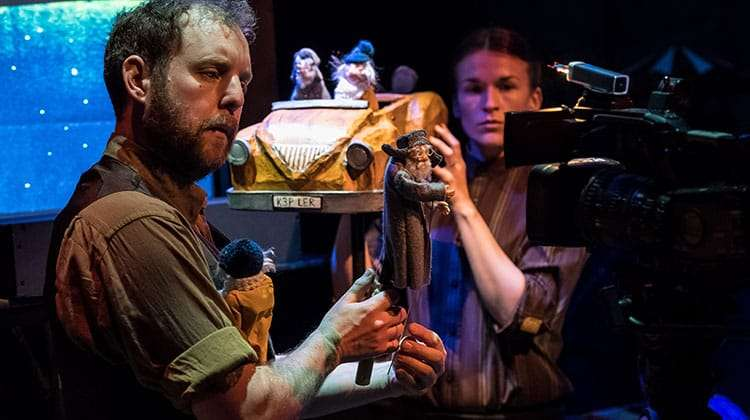 David Emmings, Samantha Arends (Puppeteers) and Warple and Hilda, The Missing Light at The Old Vic.