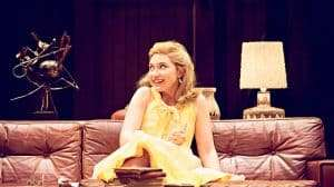 Imogen Poots playing Honey in Edward Albee's Who's Afraid of Virginia Woolf? at Harold Pinter Theatre, London