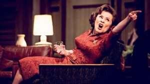Imelda Staunton playing Martha in Edward Albee's Who's Afraid of Virginia Woolf? at Harold Pinter Theatre, London