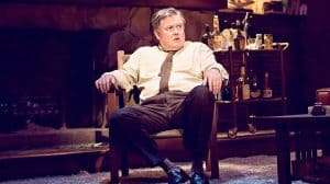 Conleth Hill playing George in Who's Afraid of Virginia Woolf? Harold Pinter Theatre