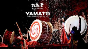 Yamato The drummers of Japan playing at the Peacock Theatre London
