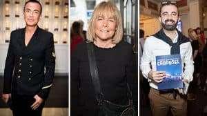 Julian MacDonald, Linda Robson, Kolchagov Barba at the Opening night of Carousel at the London Coliseum
