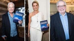 David Gower, Claire Sweeney, Christopher Biggins at the Opening night of Carousel at the London Coliseum