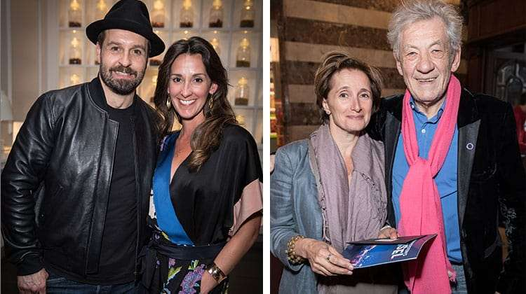 Alfie Boe, Ian McKellen at the Opening night of Carousel at the London Coliseum