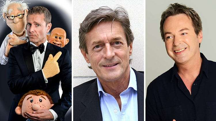 Paul Zerdin ,Nigel Havers & Julian Clary sign on for Dick Whittington at the London Palladium