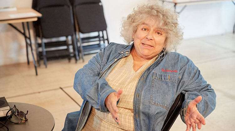 Miriam Margolyes in rehearsal for Madame Rubinstein