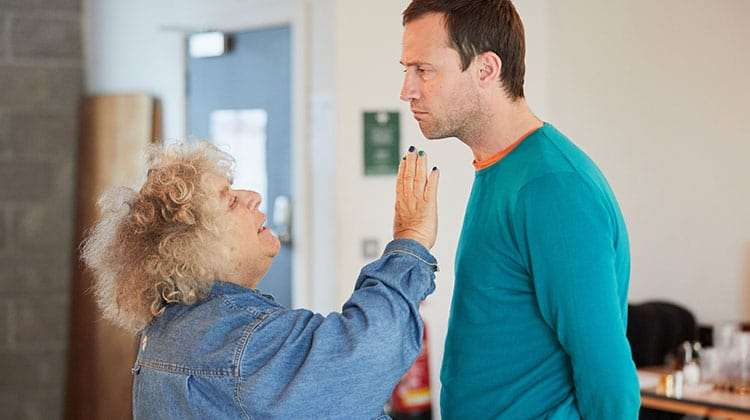 Miriam Margolyes & Jonathan Forbes in rehearsal for Madame Rubinstein. (c)Mark Douet