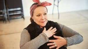 Frances Barber in rehearsal for Madame rubinstein