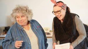Miriam Margolyes & Frances Barber in rehearsal for Madame rubinstein.