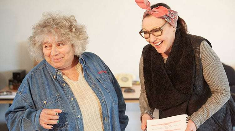 Miriam Margolyes & Frances Barber in rehearsal for Madame rubinstein.