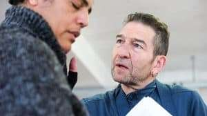 Greg Hicks in rehearsals for Richard III at the Arcola Theatre
