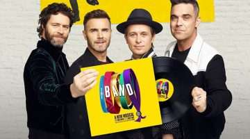 Gary Barlow, Howard Donald, Mark Owen, Robbie Williams promoting new Take That musical The Band