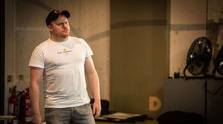 Simon Holland Roberts in rehearsal for The Resistible Rise of Arturo Ui at the Donmar Warehouse.