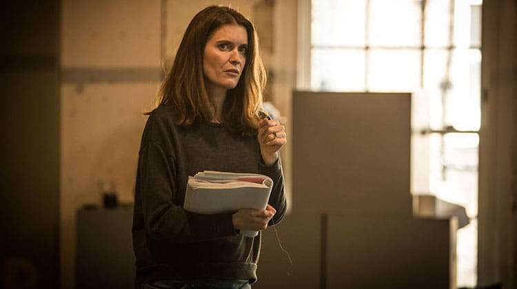 Justine Mitchell in rehearsal for The Resistible Rise of Arturo Ui at the Donmar Warehouse.