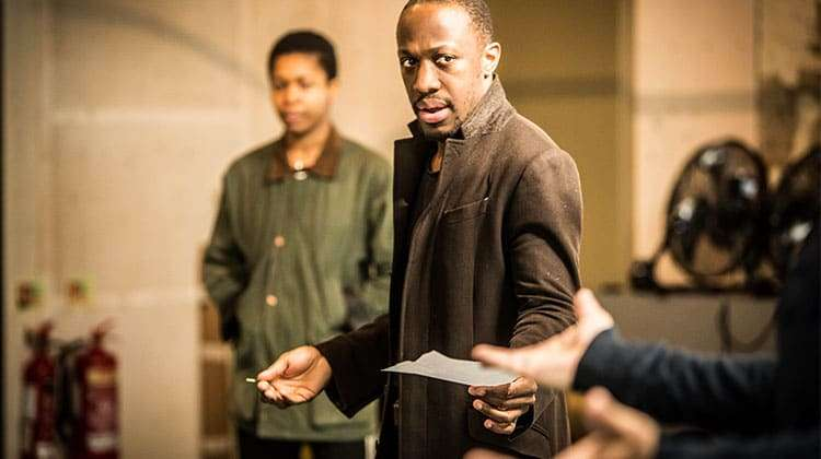 Giles Terera in rehearsal for The Resistible Rise of Arturo Ui at the Donmar Warehouse.