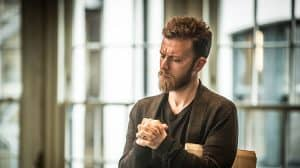 Philip Cumbus in rehearsal for The Resistible Rise of Arturo Ui at the Donmar Warehouse.