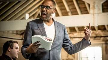 Lenny Henry in rehearsal for The Resistible Rise of Arturo Ui at Donmar Warehouse