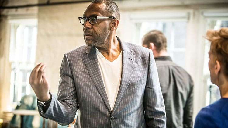 Lenny Henry in rehearsal for The Resistible Rise of Arturo Ui. Photo: Jack Sain | Flash Photos: Lenny Henry in rehearsal for The Resistible Rise of Arturo Ui