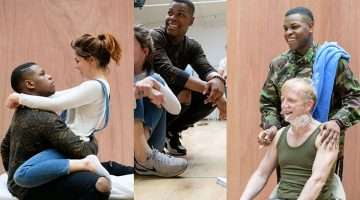 Rehearsals for Woyzeck at the Old Vic.