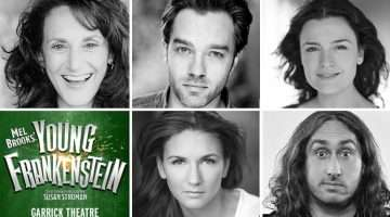 Young Frankenstein cast - Hadley Fraser, Ross Noble, Summer Strallen, Lesley Joseph, Diane Pilkington