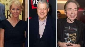 J. K Rowling, Cameron Mackintosh, Andrew Lloyd Webber - 2017 Theatre Sunday Times UK Rich List