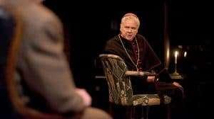David Yelland as Bishop von Galen with Colin Tierney as Dr Franz