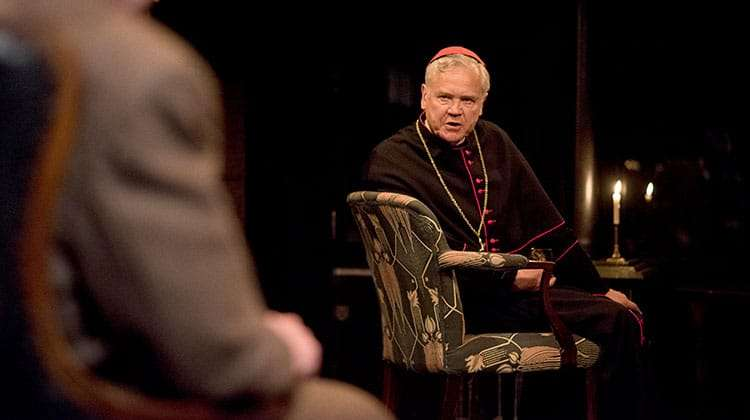 David Yelland as Bishop von Galen with Colin Tierney as Dr Franz