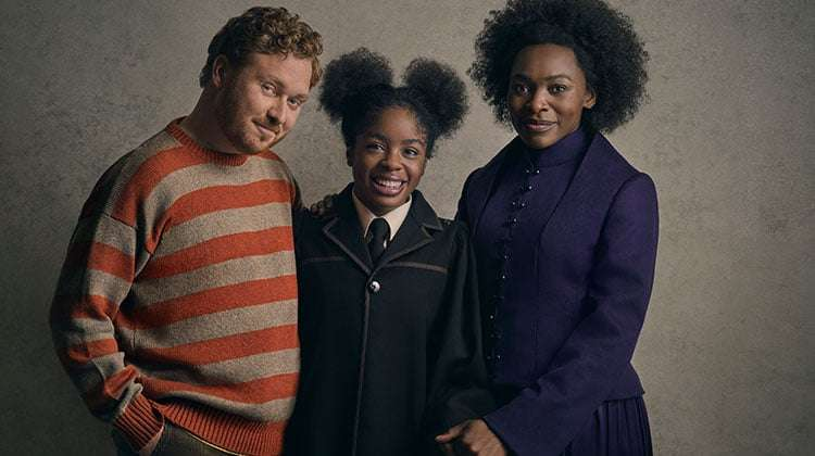 The Weasley Family - Thomas Aldridge, Helen Aluko & Rakie Ayola | Harry Potter play release new cast portraits