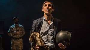 Henry Lloyd-Hughes in Occupational Hazards at Hampstead Theatre.